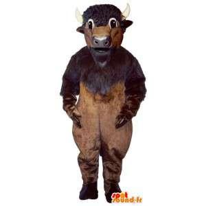 Brązowy buffalo maskotka. Buffalo Costume
