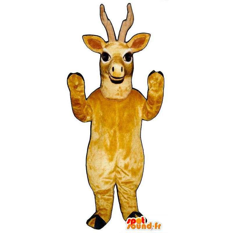 Mascot yellow deer. Reindeer Costume - MASFR007328 - Mascots stag and DOE