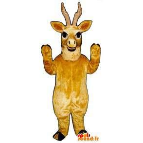 Keltainen peura maskotti. poro Suit - MASFR007328 - Stag ja Doe Mascots