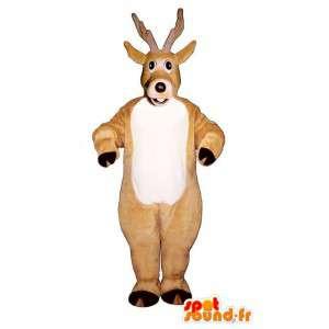 Beige peura puku. peittää - MASFR007329 - Stag ja Doe Mascots