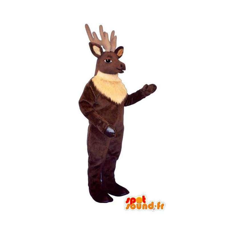 Brun elg maskot. Caribou kostume - Spotsound maskot kostume