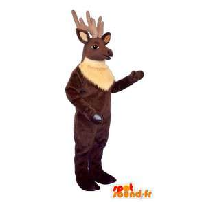 Mascot brown momentum. Costume caribou - MASFR007332 - Animals of the forest