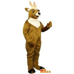Brun og hvit hjort Mascot - MASFR007334 - Stag og Doe Mascots