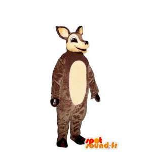 Mascot marrón y gama blanca