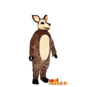 Ruskea ja valkoinen takajalat maskotti - MASFR007337 - Stag ja Doe Mascots