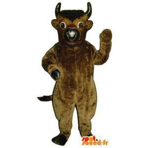 Bruin en zwart buffel mascotte