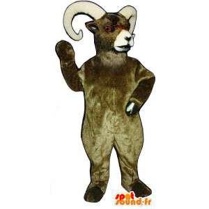 Brown ram maskot