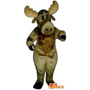 Brun elg maskot - Spotsound maskot kostume