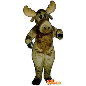 Ruskea vauhtia maskotti - MASFR007341 - Stag ja Doe Mascots
