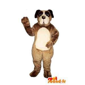 Ruskea ja valkoinen koira puku - MASFR007349 - koira Maskotteja