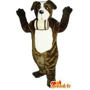 Saint Bernard maskotti. koira Costume - MASFR007350 - koira Maskotteja