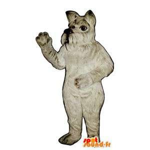 Harmaa koira maskotti, karvainen. Scottish Koira Costume - MASFR007360 - koira Maskotteja
