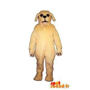 Weißer Hund Maskottchen - MASFR007366 - Hund-Maskottchen