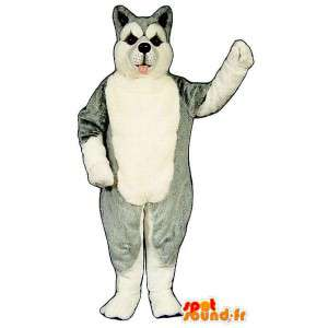 Husky dog mascot, gray and white - MASFR007369 - Dog mascots
