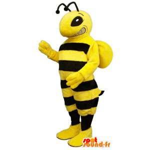 Mascot avispa de color amarillo y negro