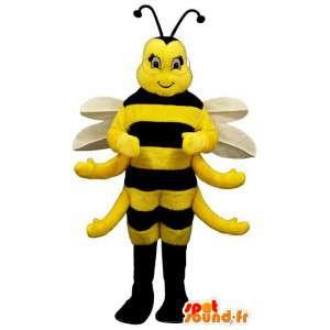 Mascota de la abeja.Disfraz de abeja