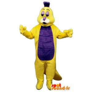 Mascot lagarta amarela e violeta - MASFR007374 - mascotes Insect