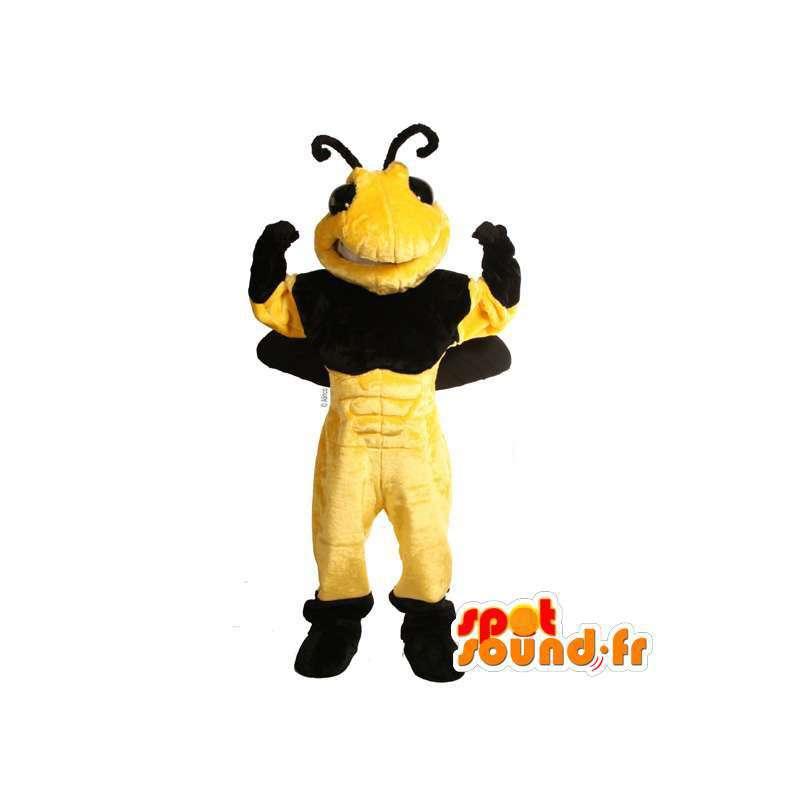 Giant bee mascot. Plush bee costume - MASFR007375 - Mascots bee