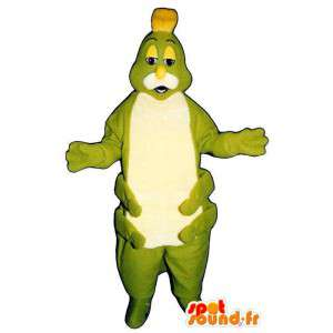 Mascot green caterpillar and white - MASFR007376 - Mascots insect