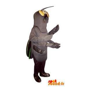 Maskotgråt insekt, bille - Spotsound maskot kostume