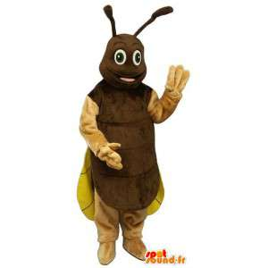 Cricket mascotte, bruin en geel vuurvlieg