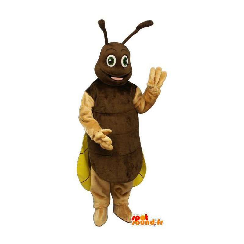 Świerszcz maskotka, brązowy i żółty firefly - MASFR007382 - maskotki Insect