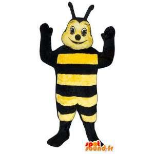 Mascotte d'abeille souriante