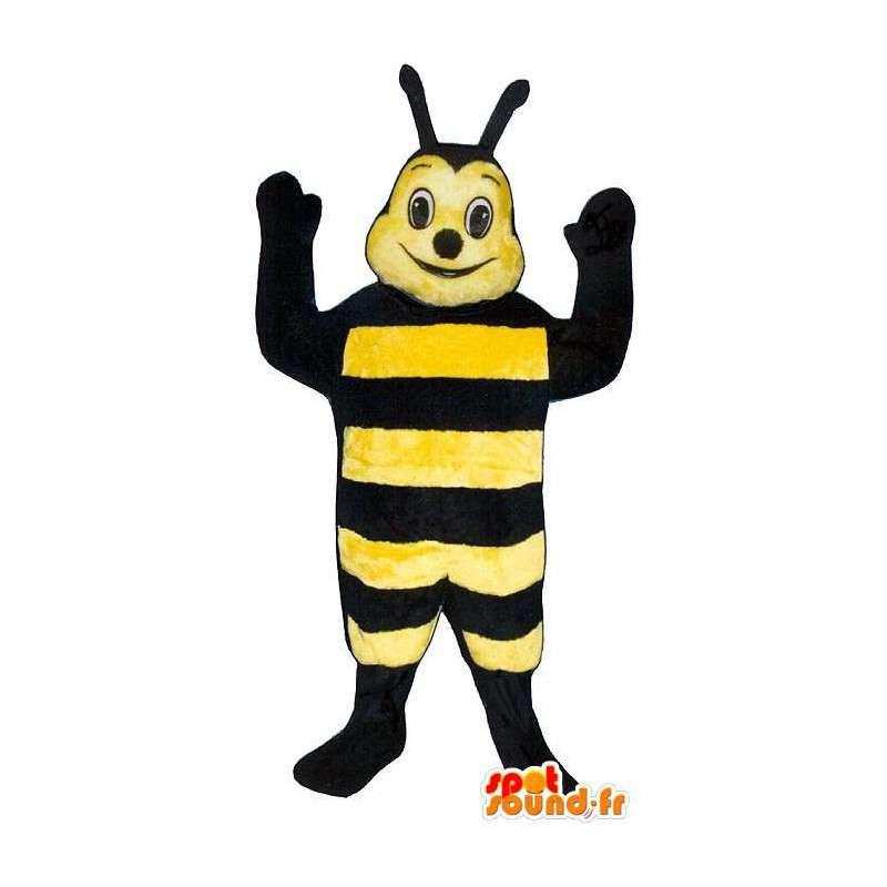 Mascot smiling bee - MASFR007383 - Mascots bee
