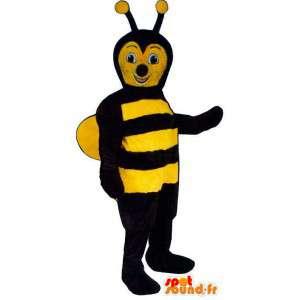 Mascotte d'abeille noire et jaune