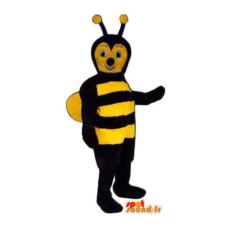 Mascot black and yellow bee - MASFR007387 - Mascots bee