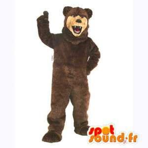 Mascot brun og beige bjørn. bjørn Suit - MASFR007392 - bjørn Mascot