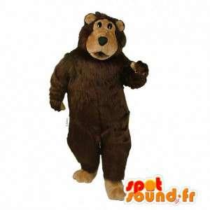 Maskot noen brun hårete bjørn - MASFR007393 - bjørn Mascot