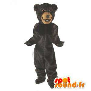 Maskot svartbjørn. Svartbjørn Costume - MASFR007398 - bjørn Mascot