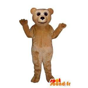 Costume d'ourson beige – Peluche toutes tailles - MASFR007400 - Mascotte d'ours