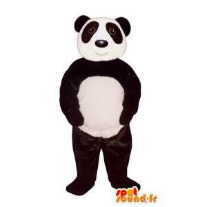 Mascotte de panda blanc et noir