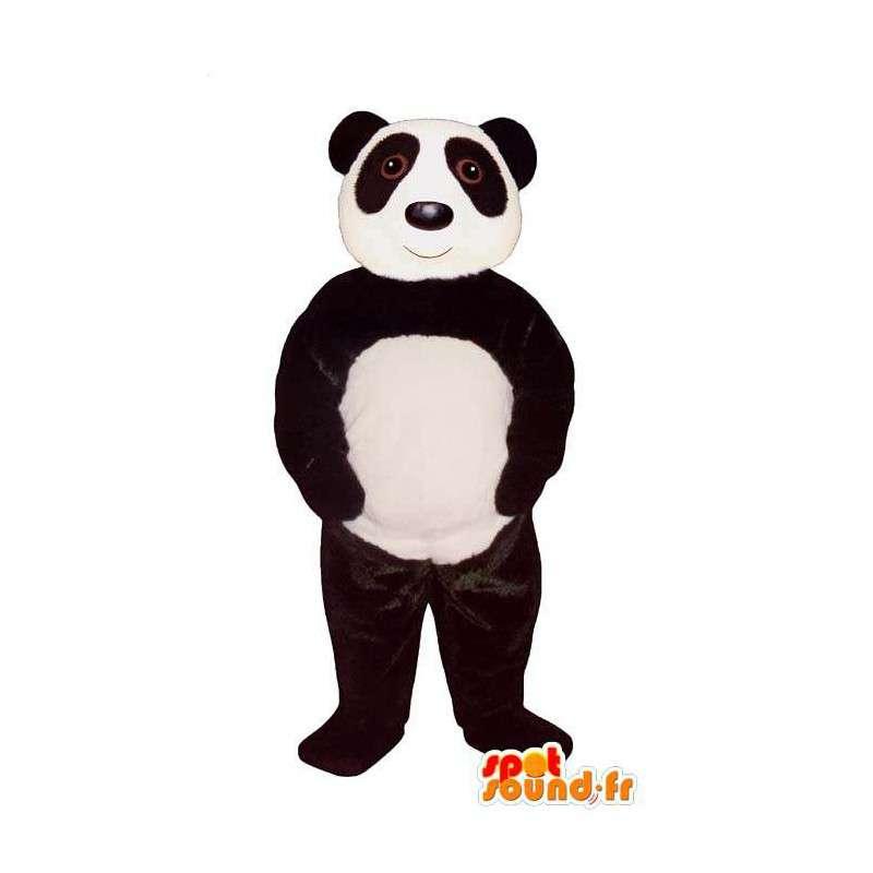 Mascot schwarz und weiß Panda - MASFR007404 - Maskottchen der pandas