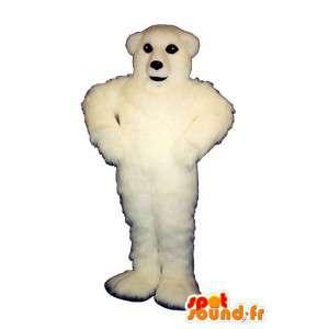Mascotte elke harige witte beer - MASFR007405 - Bear Mascot