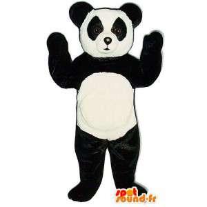 μαύρο και άσπρο panda κοστούμι - βελούδινα μεγέθη
