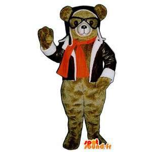 Costume da orso aviatore - MASFR007412 - Mascotte orso