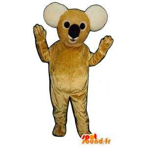 Mascotte de koala jaune et blanc