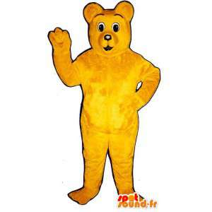 Mascot yellow teddy bear. Yellow Bear Costume - MASFR007421 - Bear mascot