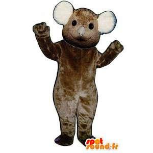 ビッグブラウンコアラのマスコット - ぬいぐるみサイズ