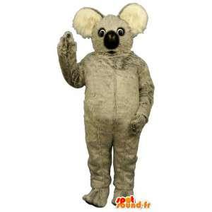 Mascotte de koala gris en peluche