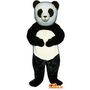 Giant Panda μασκότ - βελούδινα μεγέθη