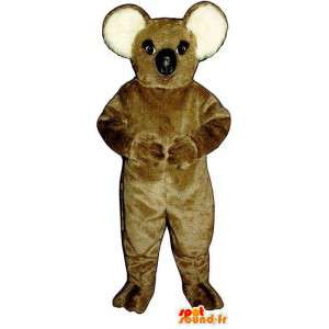 Costume de koala marron et blanc