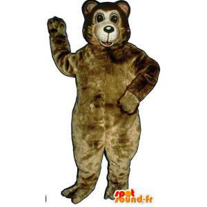 Stor brun bamse maskot - MASFR007434 - bjørn Mascot