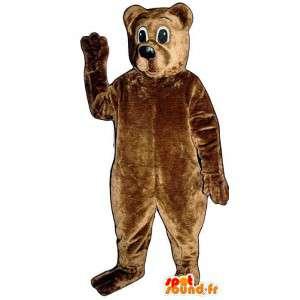 Bjørn Suit brun teddy - MASFR007435 - bjørn Mascot