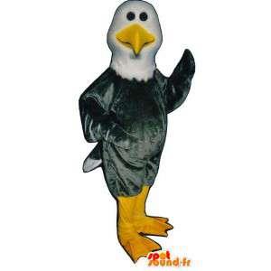 Mascot buitre gris y blanco.Águila de vestuario - MASFR007438 - Mascota de aves
