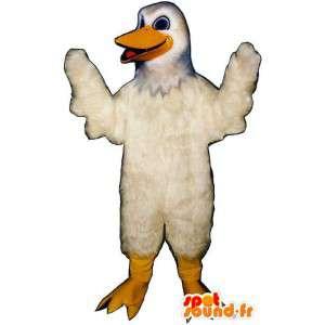 Mascotte bianco gabbiano. Costume bianco uccello - MASFR007439 - Mascotte degli uccelli