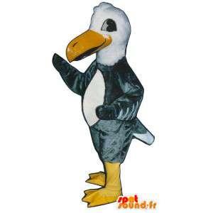 Puku harmaa ja valkoinen korppikotka. Eagle Mascot - MASFR007440 - maskotti lintuja